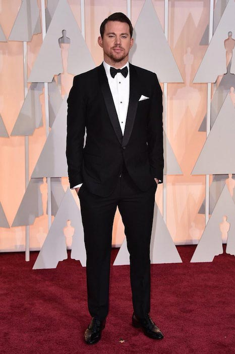 Channing Tatum at Oscars 2015 in February