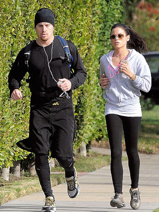 Channing Tatum running with Jenna