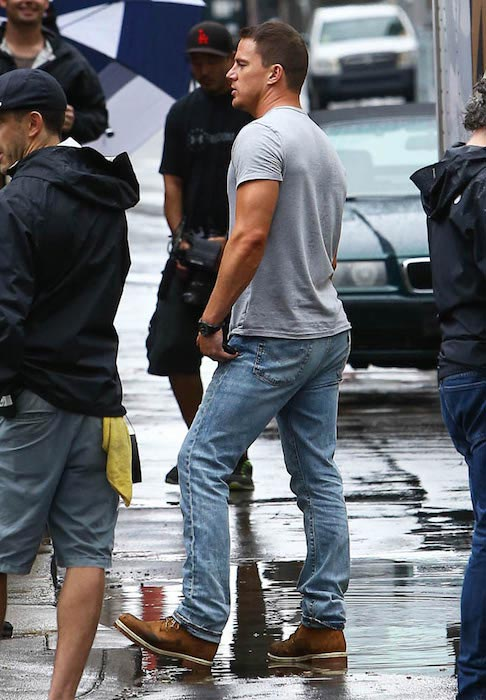 Channing Tatum while filming Magic Mike XXL in Savannah, Georgia