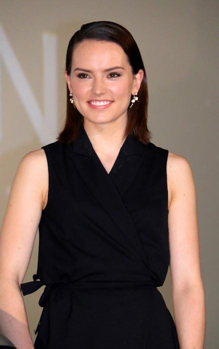 "Daisy Ridley at ""Star Wars: The Force Awakens"" Press Conference in May 2015"
