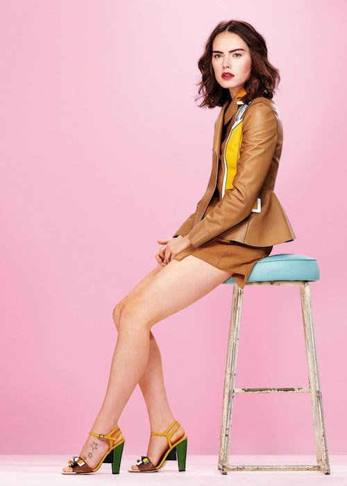 Daisy Ridley for Glamour UK Magazine's January 2016 Issue