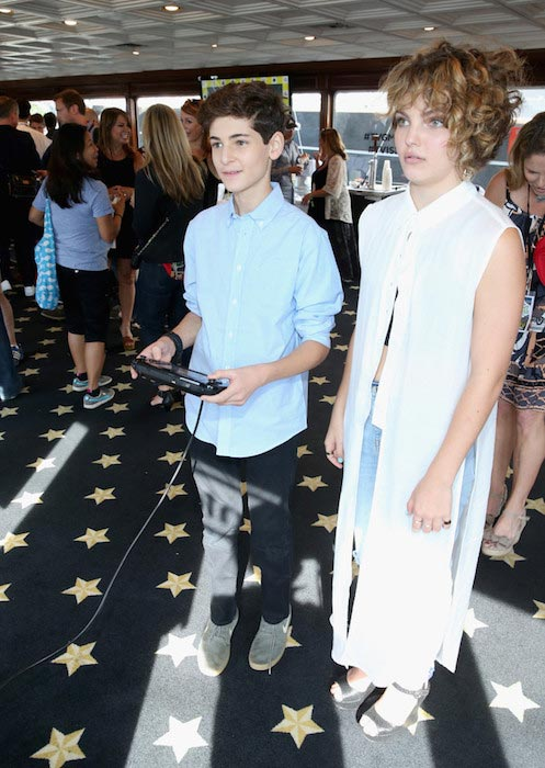 David Mazouz and Camren Bicondova at The Nintendo Lounge on the TV Guide Magazine yacht in July 2015