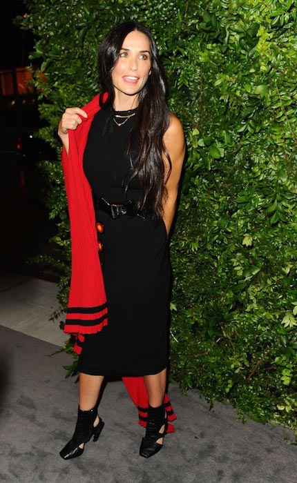 Demi Moore at Salvatore Ferragamo 100th Year Celebration in September 2015