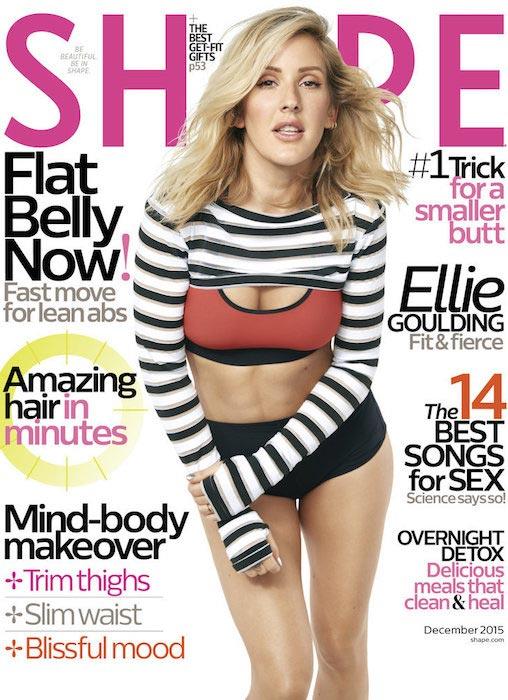 Ellie Goulding on Shape Magazine's December 2015 Cover