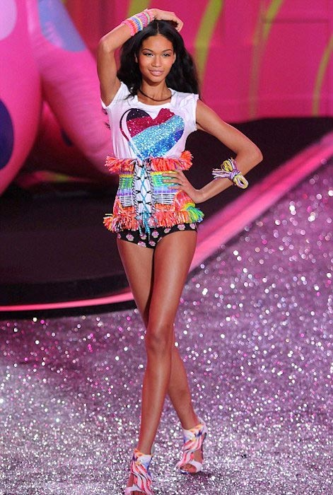 Iman Chanel during Victoria's Secret 2011