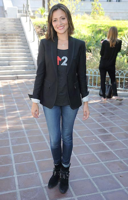 Italia Ricci at Stand Up To Cancer 2014 Press Conference in Los Angeles