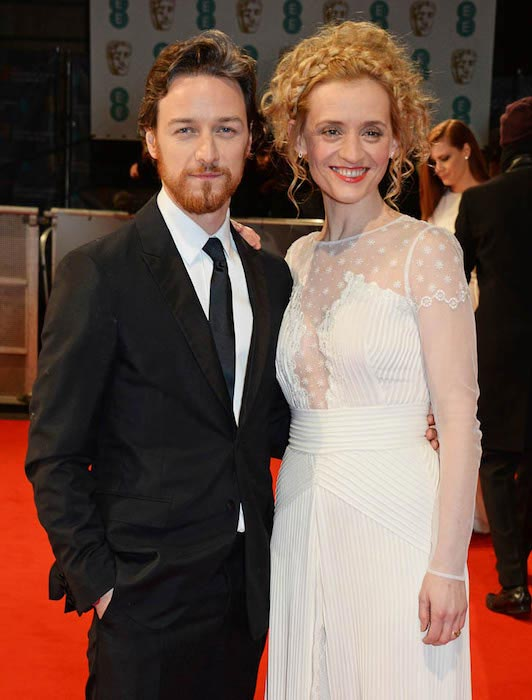 James McAvoy and Anne Marie Duff at the EE British Academy Film Awards 2015 in London, England