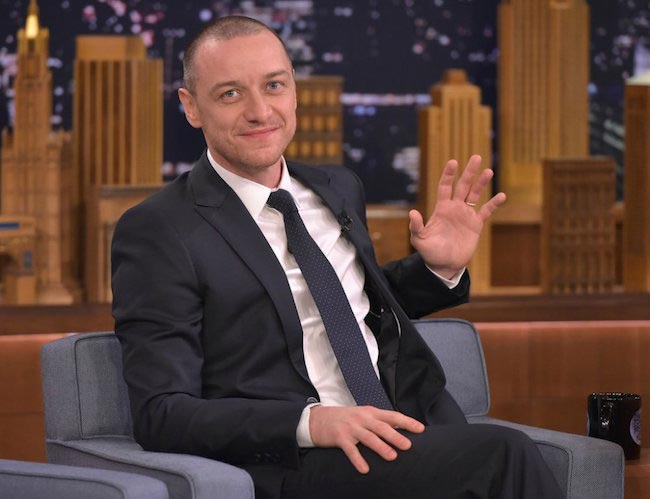 "James McAvoy at ""The Tonight Show Starring Jimmy Fallon"" in November 2015"