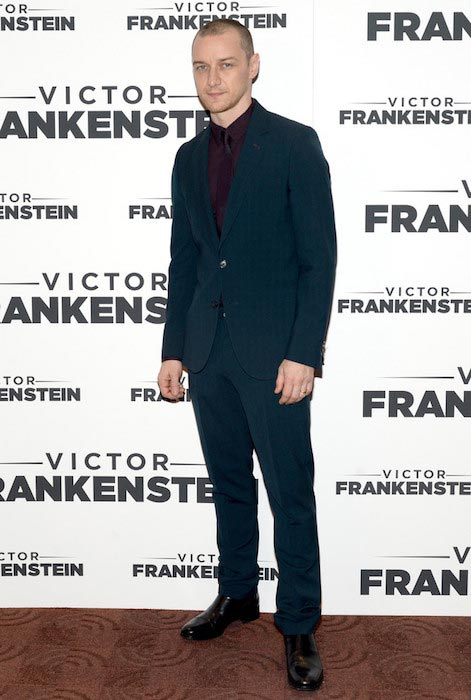 "James McAvoy at the premiere of ""Victor Frankenstein"" in New York in November 2015"