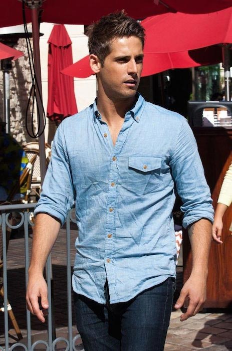 Jean-Luc Bilodeau at The Grove to do an interview for the show EXTRA in June 2013