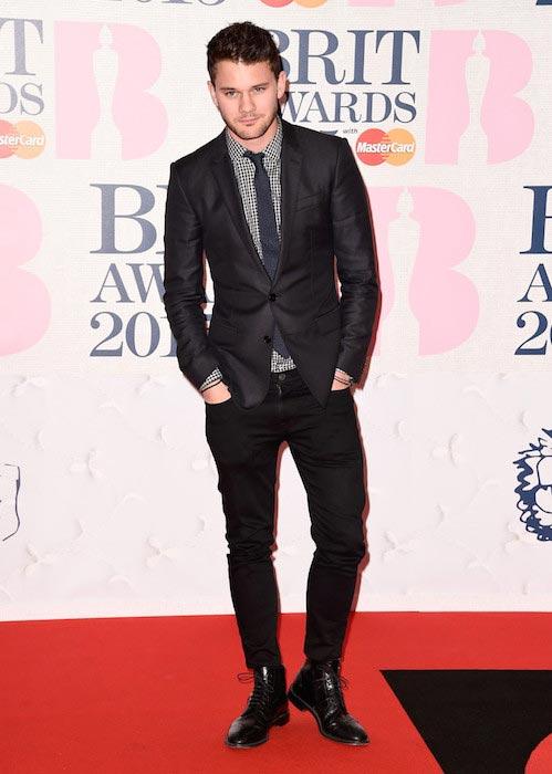 Jeremy Irvine at 2015 BRIT Awards