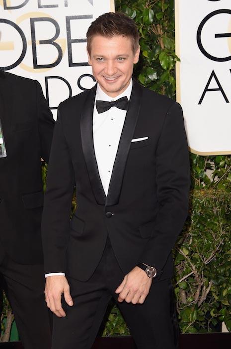Jeremy Renner at Golden Globe Awards 2015