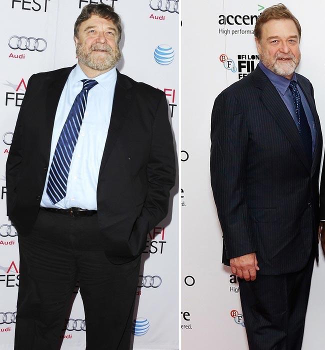 John Goodman weight loss - John in November 2014 (Left) and in October 2015 (Right)