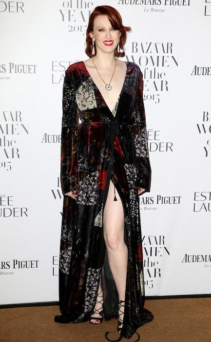 Karen Elson at Harper's Bazaar Women of the Year Awards 2015