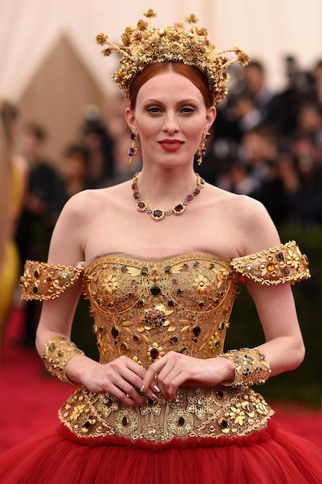 Karen Elson at MET Gala 2015