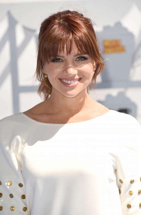 Katie Stevens at 2015 MTV Movie Awards