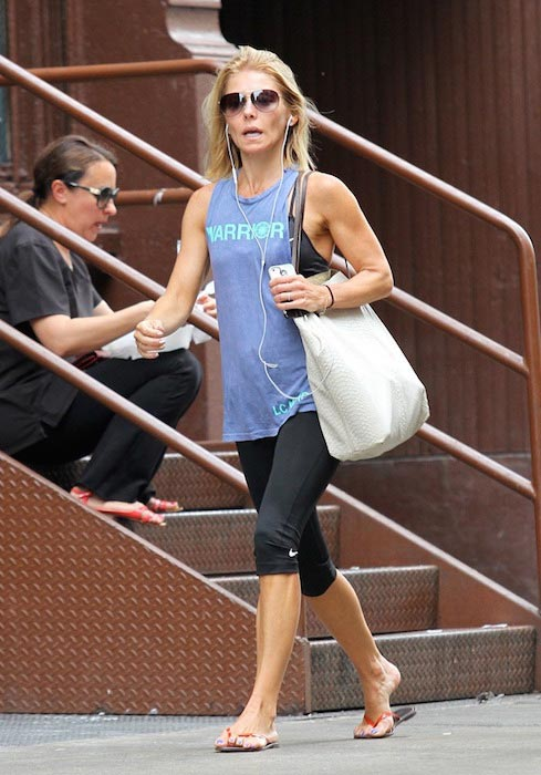 Kelly Ripa after a gym session in Soho