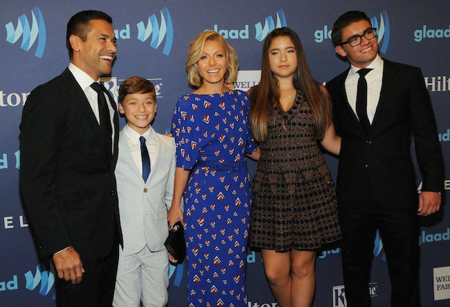 Kelly Ripa and her family