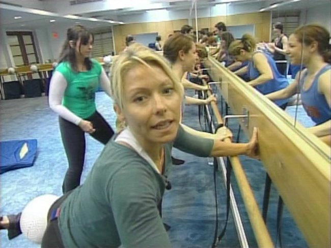 Kelly Ripa during a workout