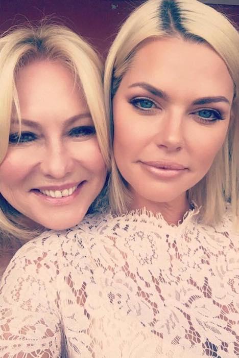 Kerri-Anne Kennerley in a selfie with Sophie Monk in September 2017