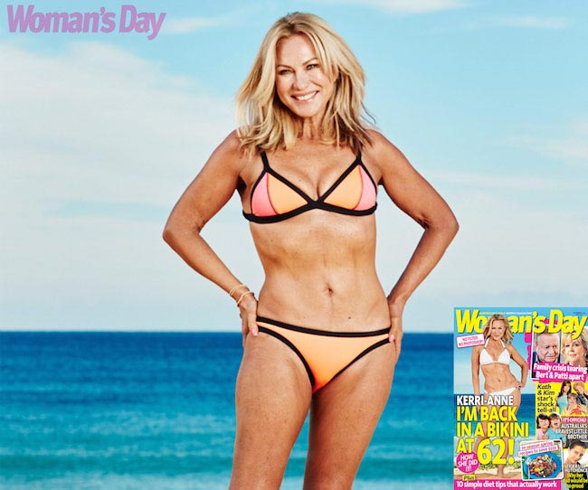 Kerri-Anne Kennerley in bikini for Woman's Day photoshoot in September 2015