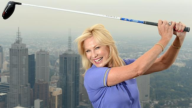Kerri-Anne Kennerley playing golf