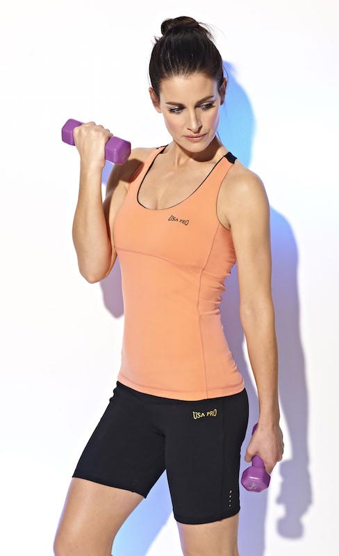Kirsty Gallacher bicep workout