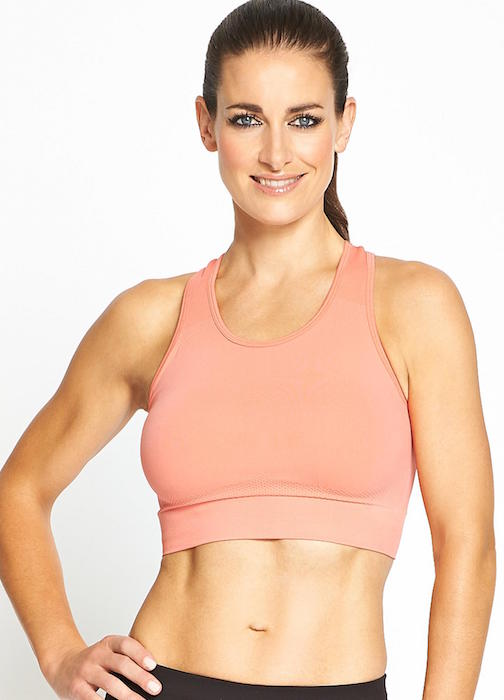 Kirsty Gallacher in her workout gear