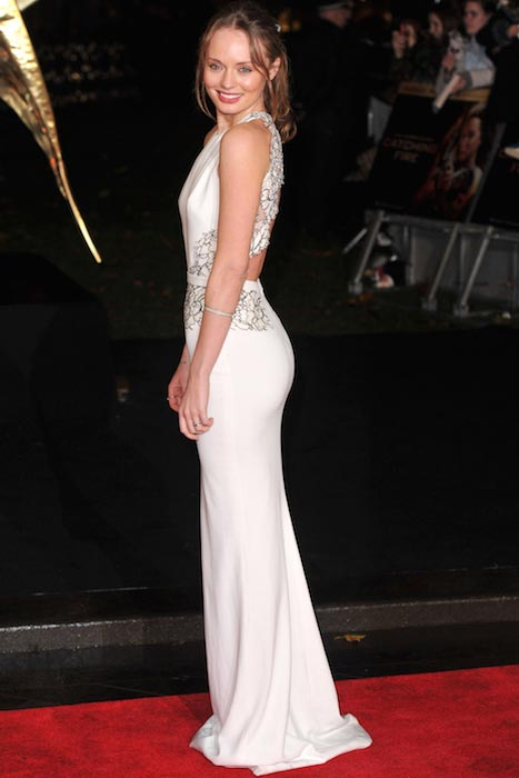 Laura Haddock at The Hunger Games premiere