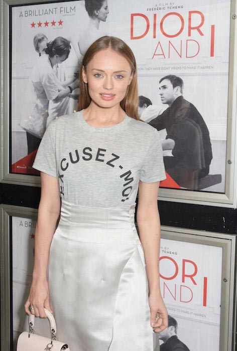 "Laura Haddock during ""Dior and I"" premiere in London"