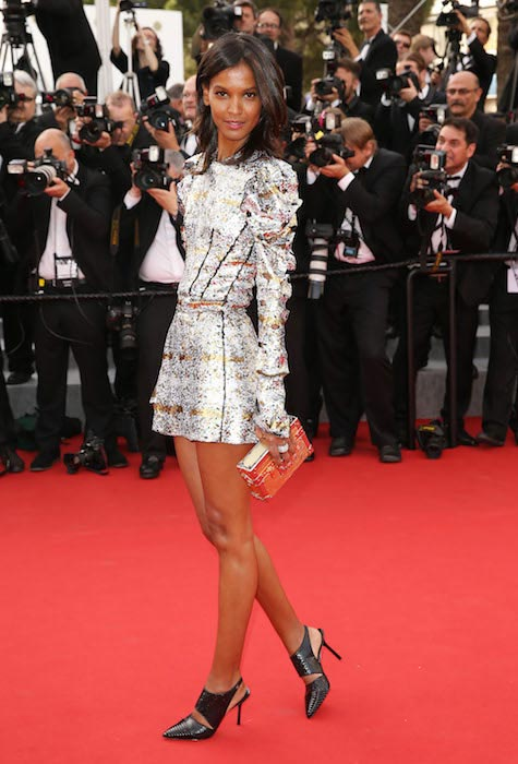 Liya Kebede at 68th Annual Cannes Film Festival Opening Ceremony La Tete Haute Premiere in 2015