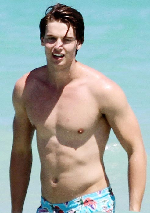 Patrick Schwarzenegger shirtless body