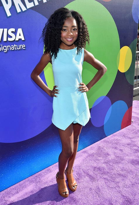 Skai Jackson at the Los Angeles premiere and party for Disney-Pixar's INSIDE OUT in June 2015
