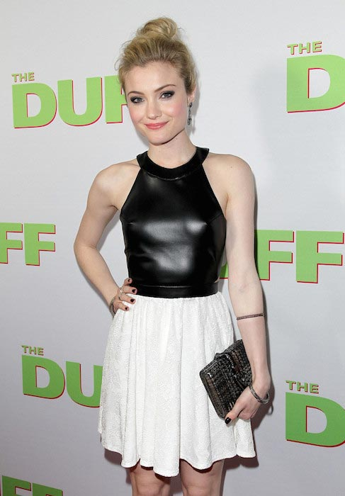 "Skyler Samuels at a special Los Angeles fan screening of ""THE DUFF"" in February 2015"
