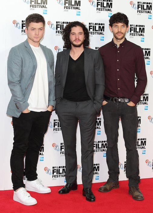 Taron Egerton, Kit Harington and Colin Morgan at BFI London Film Festival 2014