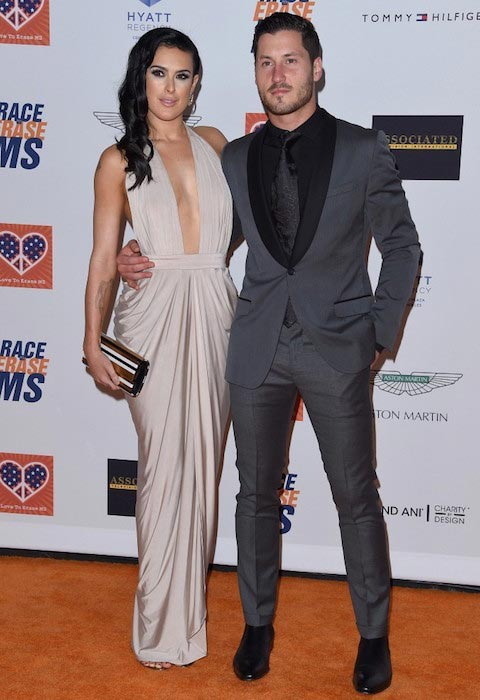 Val Chmerkovskiy and Rumer Willis on April 24, 2015 at Annual Race to Erase MS