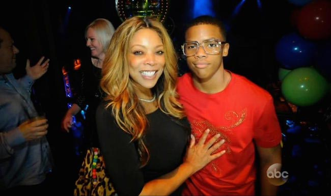 Wendy Williams with her son Kevin Hunter Jr