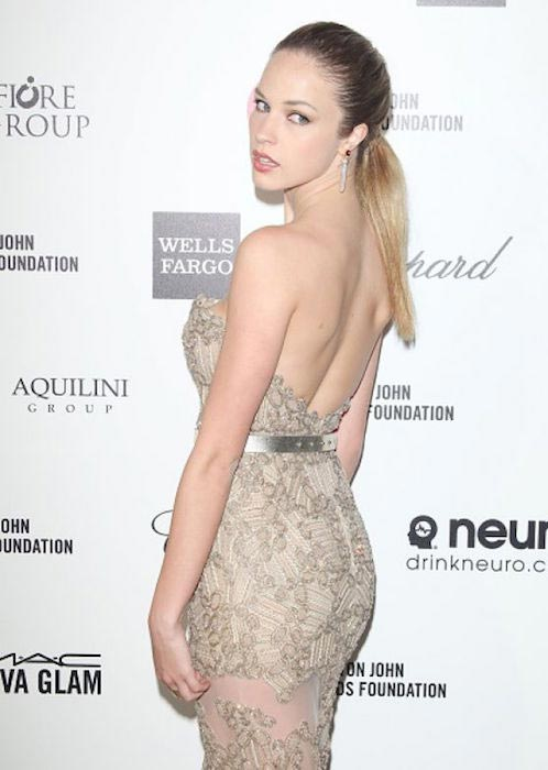 Alexis Knapp at 2015 Elton John AIDS Foundation's Oscar Viewing Party in Hollywood