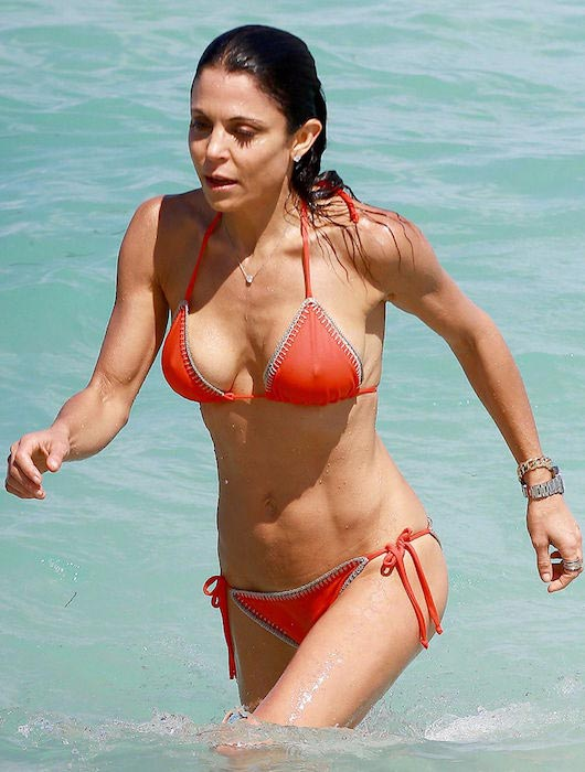 Bethenny Frankel in bikini at a beach in Miami in April 2015