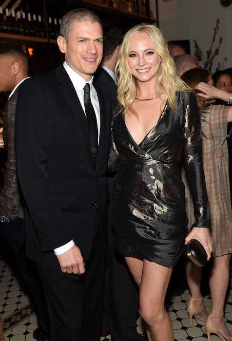 Candice Accola and Wentworth Miller at 2015 CW Upfront Party in New York