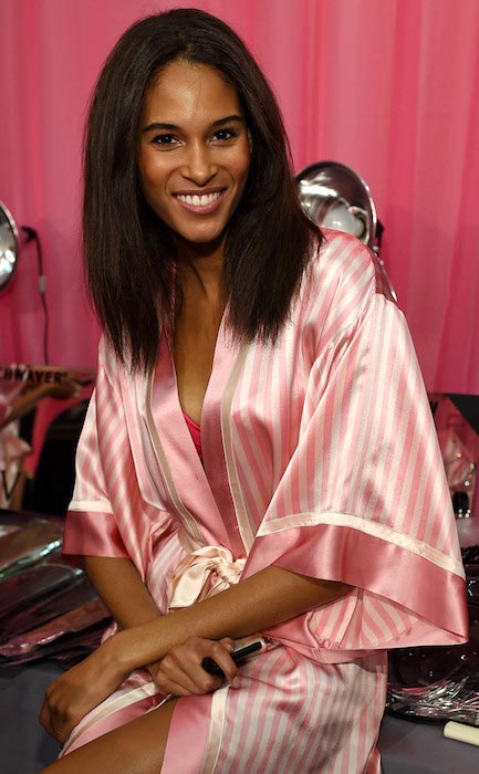 Cindy Bruna backstage during 2015 VS Show