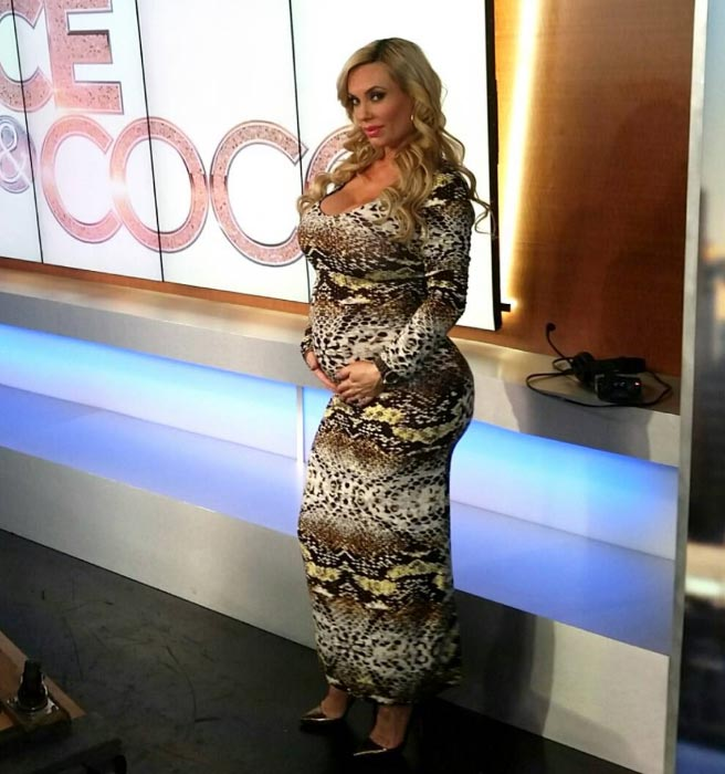 Coco Austin showing her baby bump