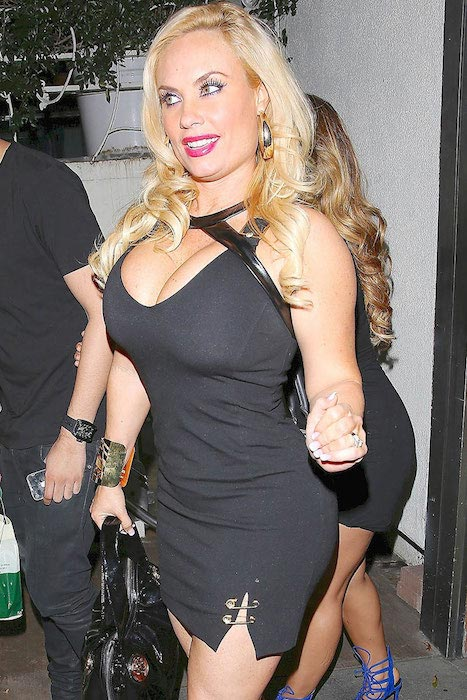 Coco Austin going to Madeo Restaurant in West Hollywood for dinner in February 2015
