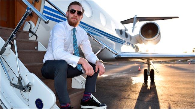 Conor McGregor looks dapper