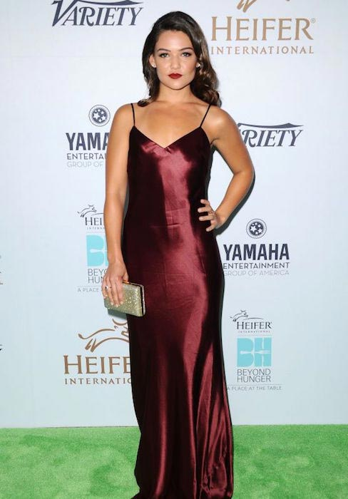 Danielle Campbell at 2015 Heifer International's Beyond Hunger Gala. Se