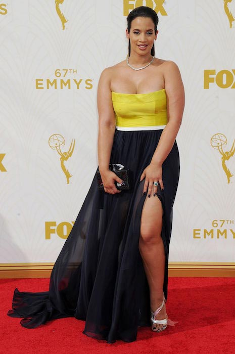 Dascha Polanco during 2015 Primetime Emmy Awards in Los Angeles
