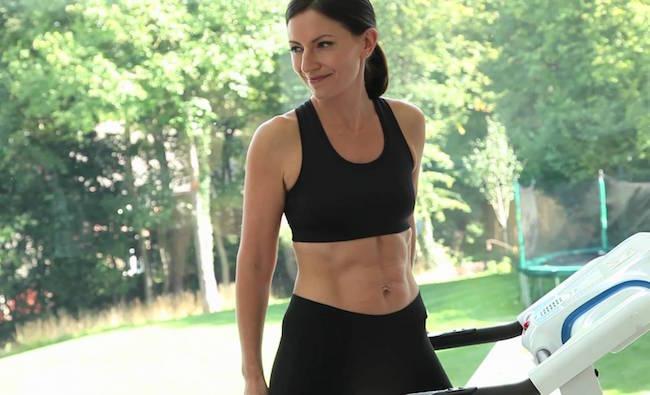 Davina McCall in sports bra