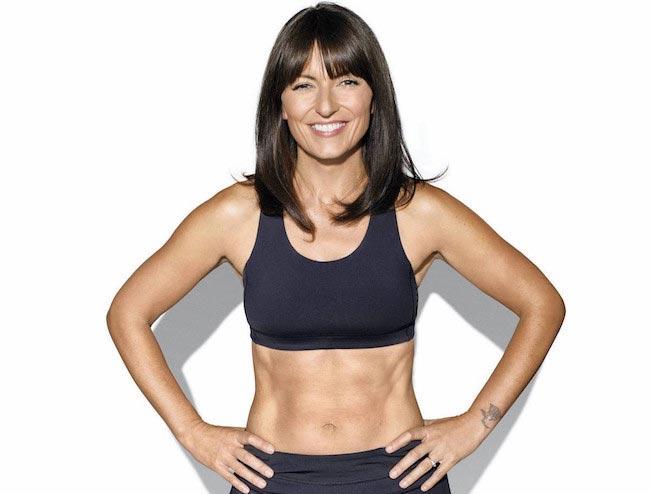 Davina McCall taut body and abs