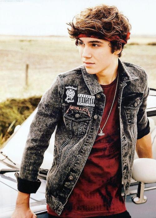George Shelley posing for Union J's official 2015 calendar
