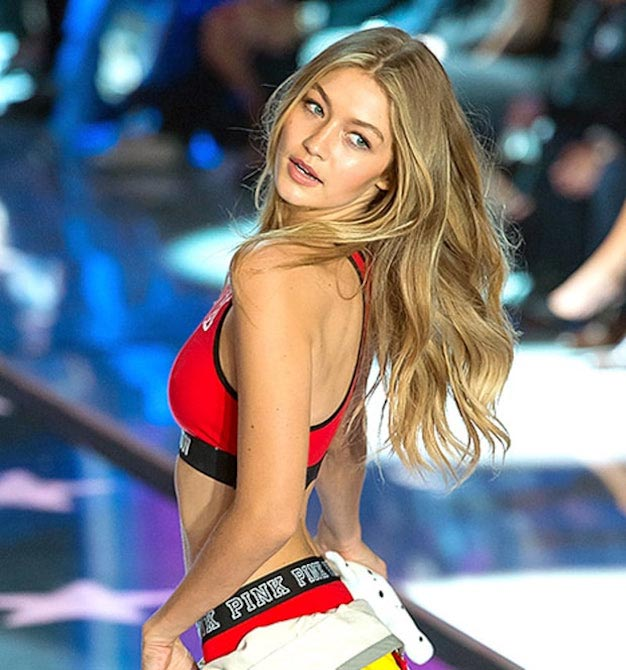 Gigi Hadid walks the runway during the 2015 Victoria's Secret Fashion Show at the Lexington Armory on November 10, 2015 in New York City
